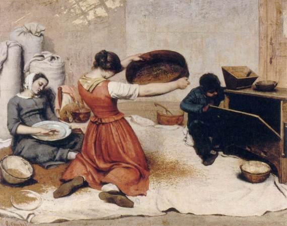 Gustave Courbet, The Wheat Sifters (Les Cribleuses de Blé), Nantes, Musée des Beaux-Arts