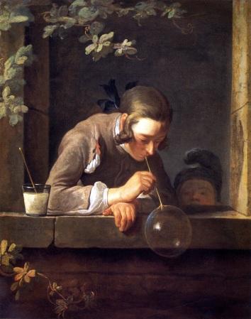 Jean-Baptiste-Siméon Chardin, Soap Bubbles (Bulles de Savon), New York, Metropolitan Museaum of Art.