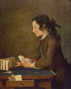 Jean-Baptiste-Siméon Chardin, The Card Castle (Le Château de Cartes), Washington, National Gallery of Art.