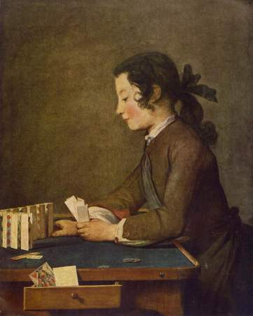 Jean-Baptiste-Siméon Chardin, The Card Castle (Le Château de Cartes), Washington, National Gallery of Art.